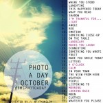 The October Photo-a-Day List is Out