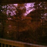 Day 26: What You're Listening To. I'm listening to outdoor noises while watching the purple & red sky.