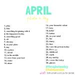 April 2013 Photo-a-Day List