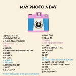 May 2013 Photo-a-Day List