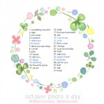 October 2013 Photo-a-Day List