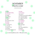 The November 2013 Photo-a-Day List