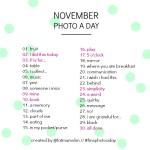 The November 2013 Photo-a-Day List