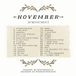 November 2014 Photo-a-Day List