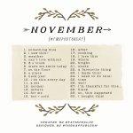 November 2014 Photo-a-Day List