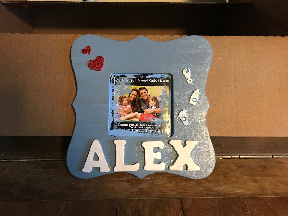 DIY Grandparents\' Picture Frames | Coll Writes
