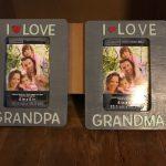 DIY Grandparents' Picture Frames