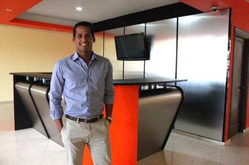 Marcos Diaz en las instalaciones del ministerio de deportes.