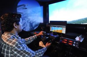 Simulador de vuelo de avion de ASCA