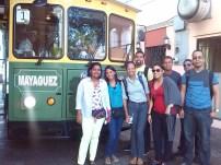 Intecianos Tomando el Trolley de Mayaguez
