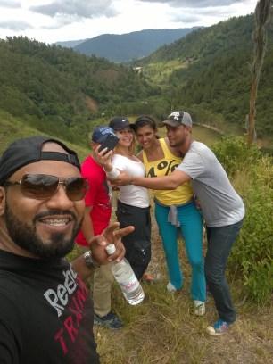 Carlos Lantigua y parte del grupo en Angostura
