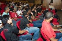 Parte del auditorio de asistentes a la actividad de toma de posesión