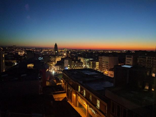 Vista de Oporto desde la oficina de Saulo Carpio