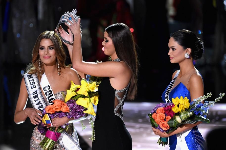 Miss Colombia Ariadna Gutierrez voor drie minuten Miss Universe