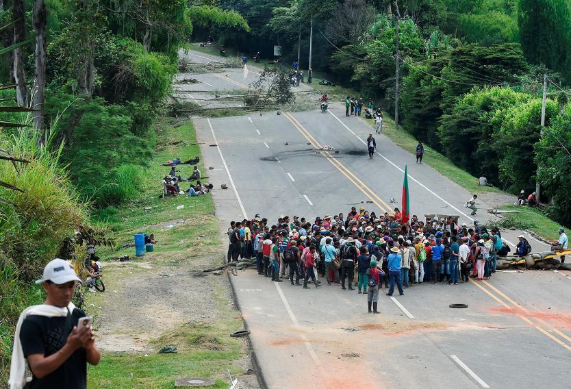 Na 14 dagen van wegblokkades nog geen afspraken tussen Colombiaanse regering en inheemse volkeren