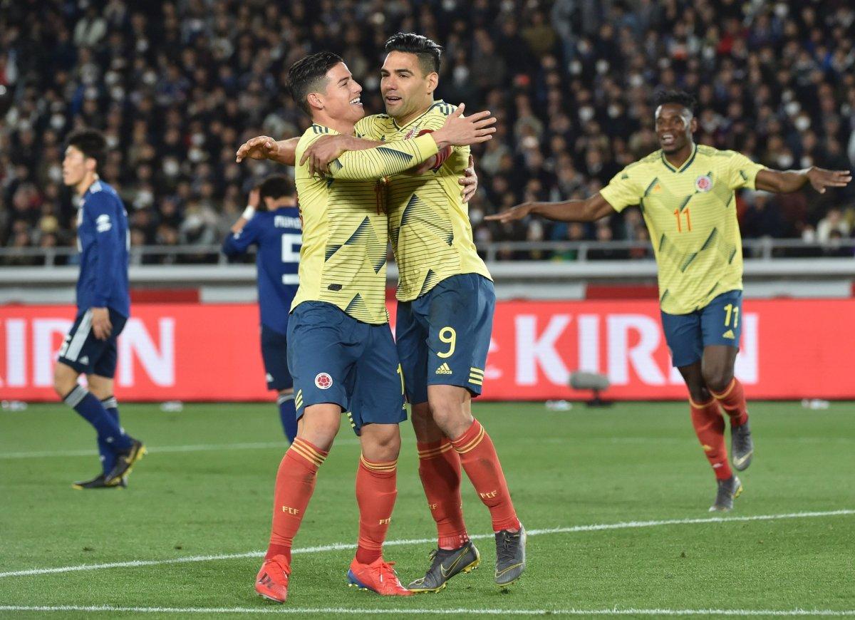 Colombia wint van Japan in oefeninterland