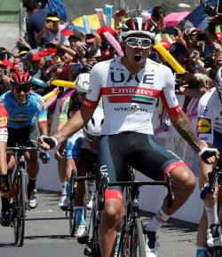 Juan Sebastián Molano wint tweede etappe Tour Colombia 2.1