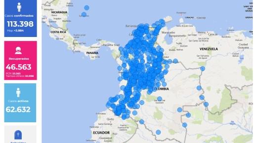 Coronacijfers van 4 juli: Aantal coronabesmettingen in Colombia  stijgt naar 113.398
