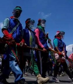 10.000 inheemse Colombianen marcheren naar Bogotá