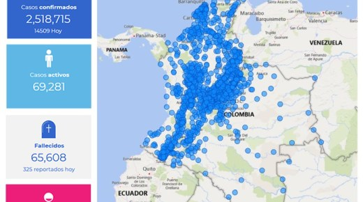 Coronacijfers van 10 april: Colombia telt 14.509 nieuwe coronabesmettingen