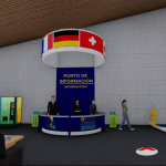 Imagen del punto de información virtual en la feria del Foro Internacional PCD