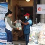Las familias estuvieron agradecidas por la ayuda proveída durante la crisis sanitaria
