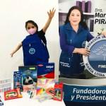 Entrega de kits escolares a niños de la ciudad de Pira en Perú. Jul 2021