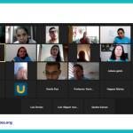 Segunda clase del grupo de personas con discapacidad visual del proyecto Emprendedores Sin Límites. Julio 2021