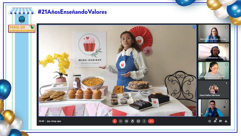 A Feria virtual Postres Saludables Lima Peru