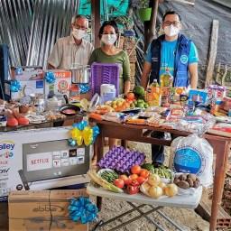 Familia Ramos recibe ayudas en Girón. Agosto 2021