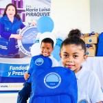 Los niños de Puerto César recibieron kits de útiles escolares para continuar con su año lectivo.
