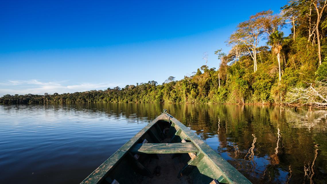Het Amazone regenwoud in Colombia