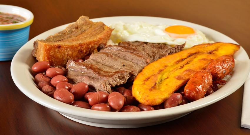Bandeja Paisa een typische lunch