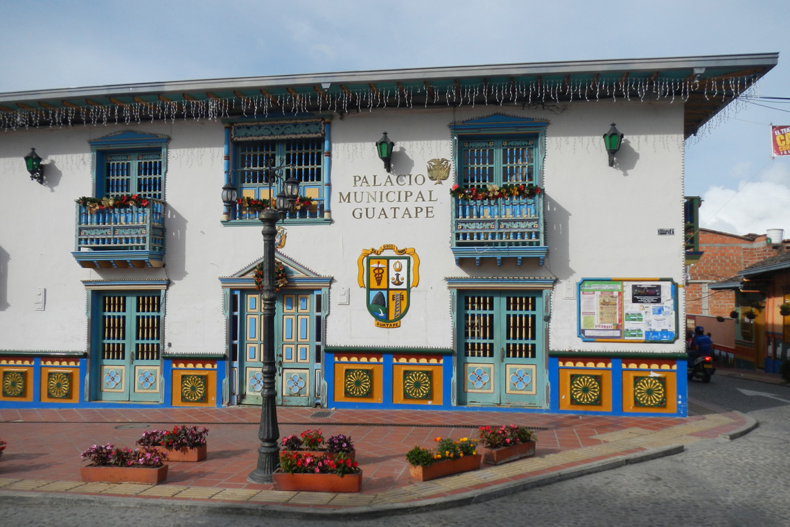 Stadhuis Guatapé Colombia