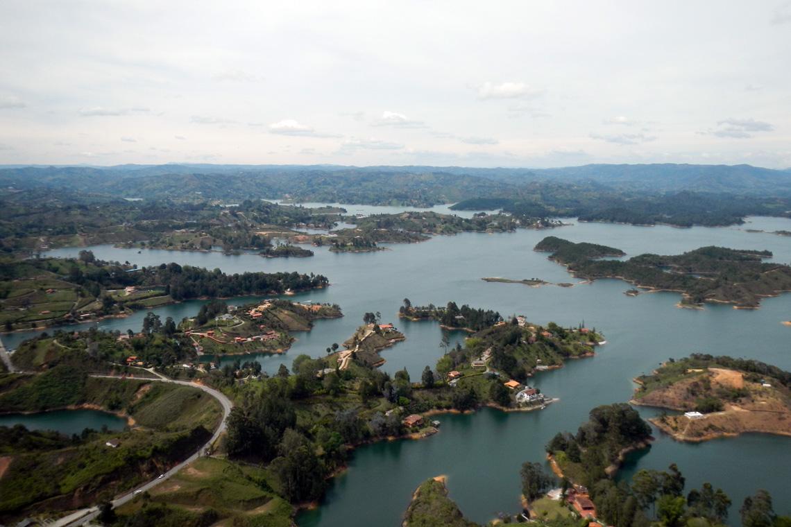 Uitzicht rots Guatapé Colombia