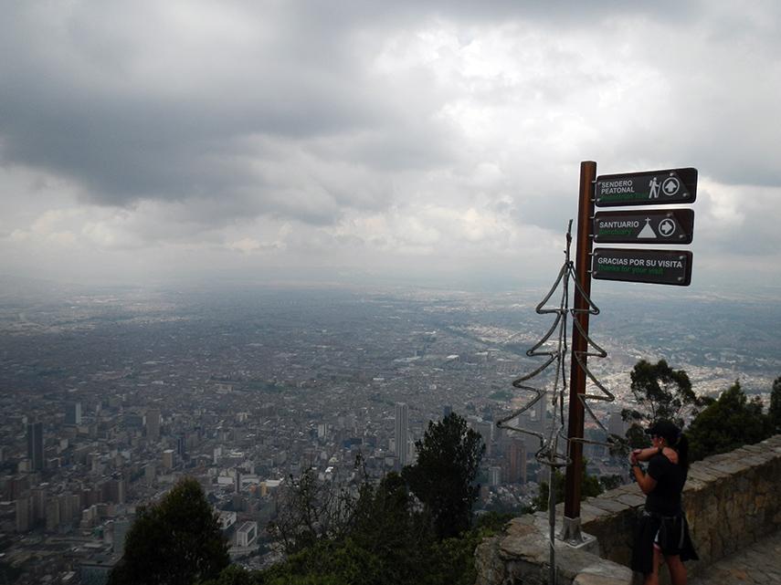 Uitzicht vanaf Monserrate Bogotá