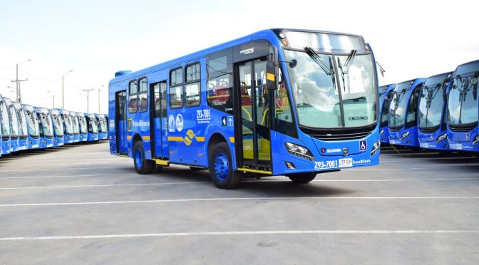 WORLD'S LARGEST FLEET OF URBAN CNG EURO VI BUSES IN BOGOTÁ