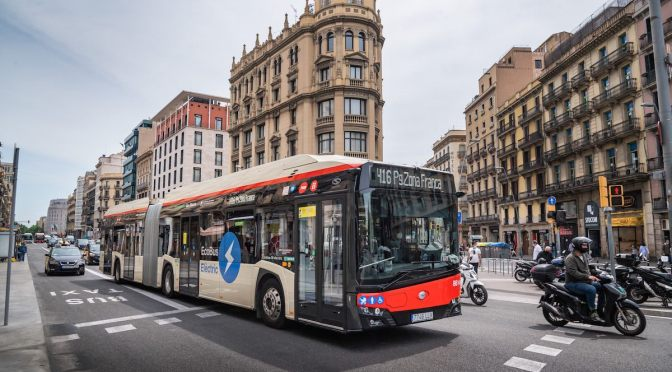 BARCELONA LAUNCHES ITS FIRST 100% URBAN CORRIDOR FOR ELECTRIC BUSES