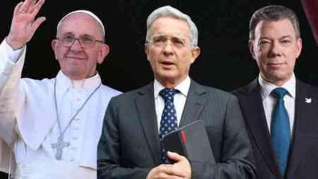 uribe santos y el papa reunion