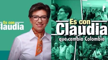 Claudia López candidata presidencial lema es con claudia