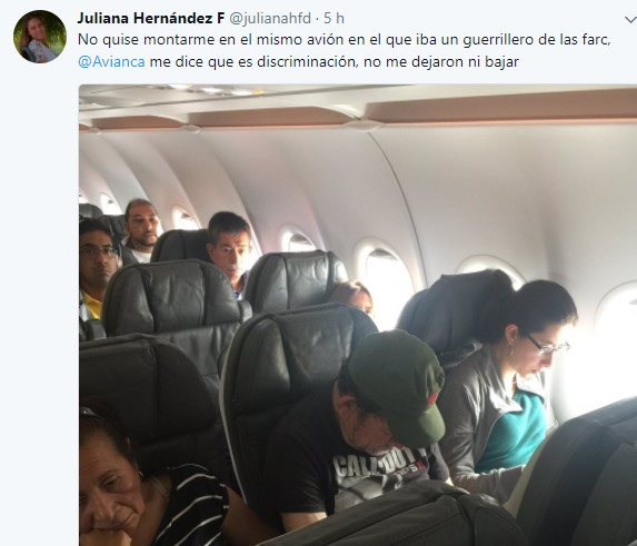 desmovilizado farc avion centro democratico