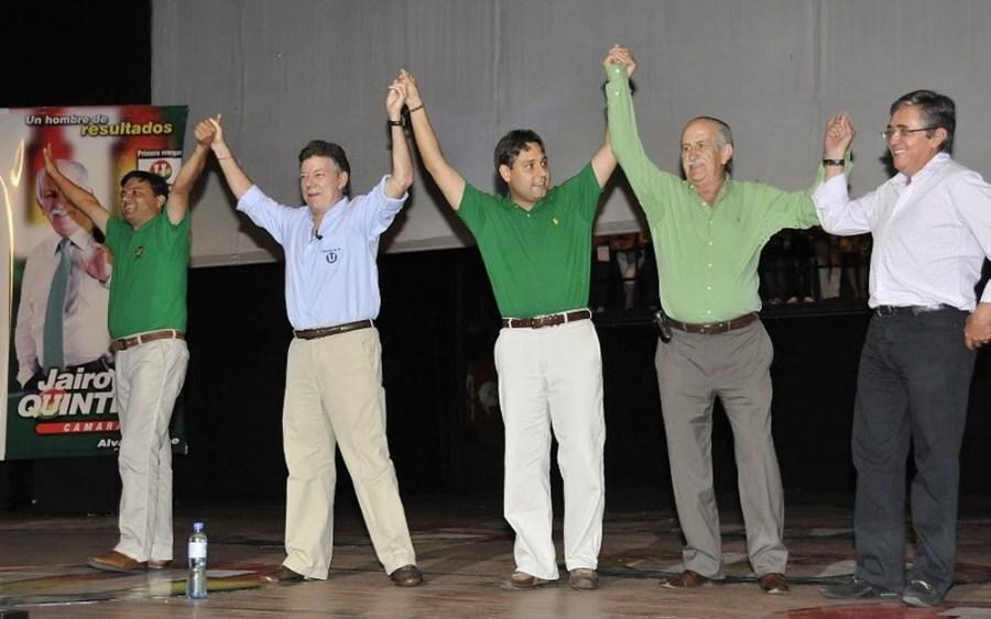 Mauricio Lizcano con santos