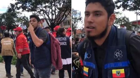 blu radio periodista infiltrado marcha estudiantil