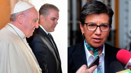 claudia lopez ivan duque el papa francisco