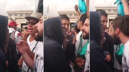estudiantes encapuchados marchas bogotá