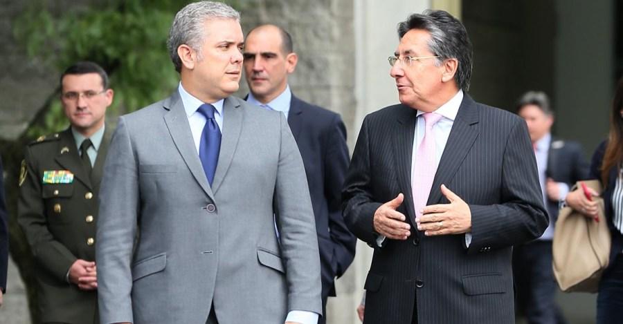 Presidente Duque defendió lo que ha hecho el fiscal general Néstor Humberto  Martínez