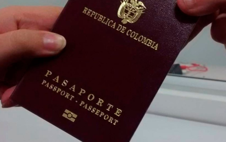 pasaporte colombia visa viaje