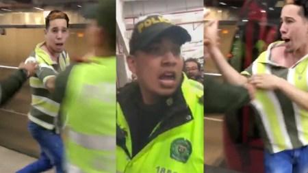 policia transmilenio venezolanos