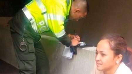 empanada multa joven policia