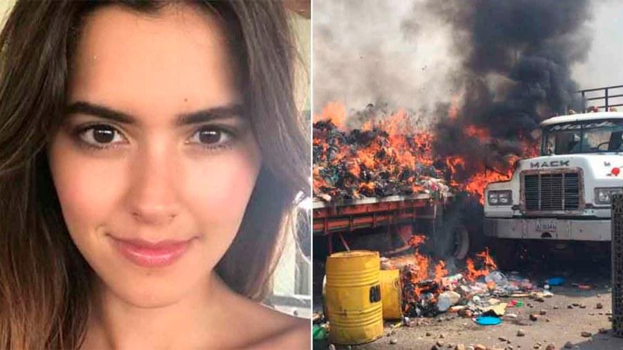 paulina vega camion ayuda humanitaria